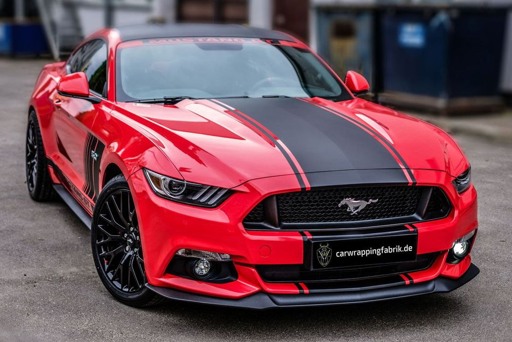 Ford Mustang Designelemente Folierung Lahr Carwrapping 3M Hexis